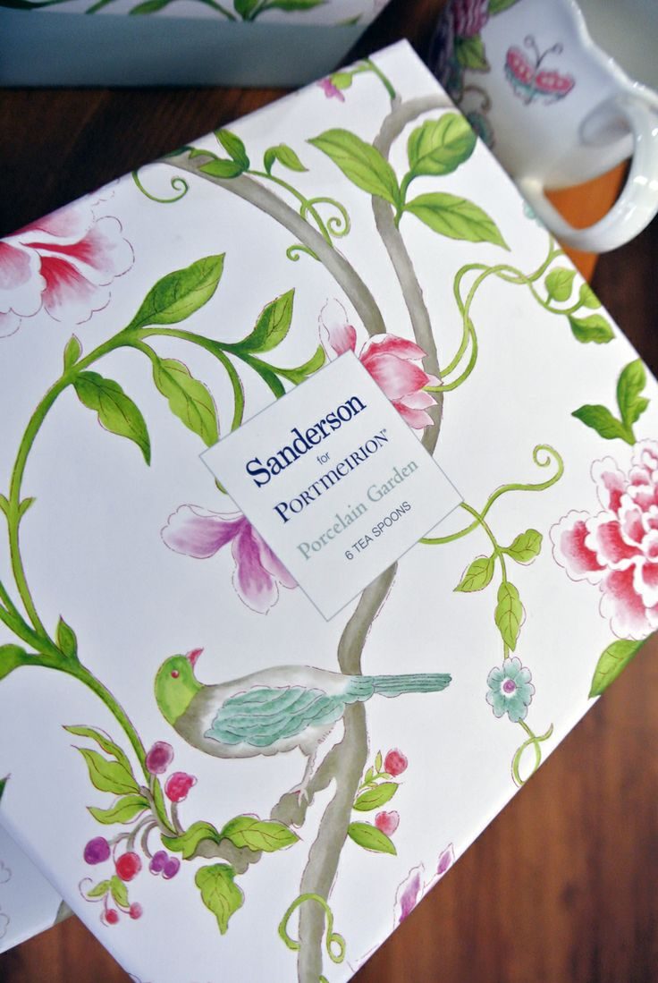 "The new ""Sanderson"" range by Portmierrion is so pretty, perfect for afternoon teas!"