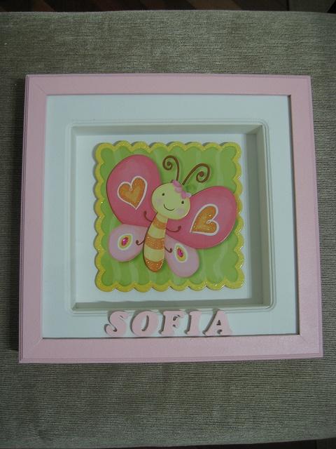Quadro maternidade by Nuvem rosa - artesanato e decoração baby & kids , via Flickr