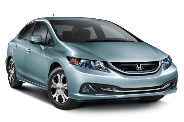 The 10 Most Fuel-Efficient Cars of 2014: #7: 2014 Honda Civic Hybrid