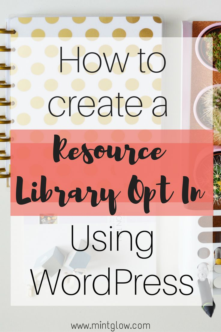 A resource library is an awesome way to get more email subscribers on your blog!