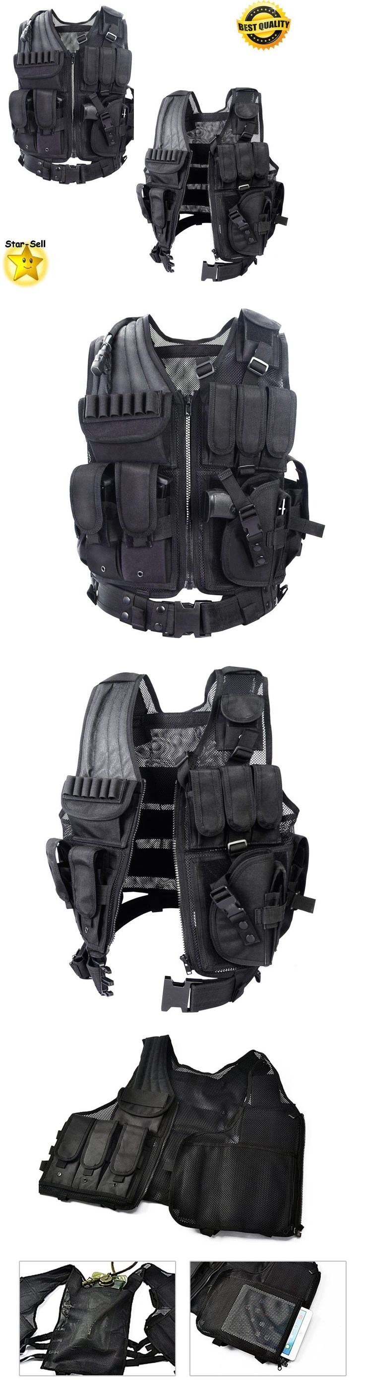 Vests 36284: Tactical Vest Police Military Hunting Vest Survival Equipment Body Armor Black -> BUY IT NOW ONLY: $46.36 on eBay!