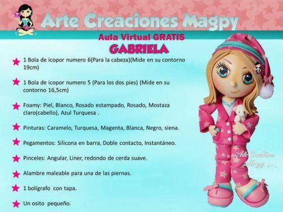 DIY Muñeca Fofucha Niña en pijama - Patrones gratis 5682ff85e2b
