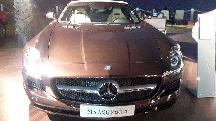 An SLS AMG Roadster by Mercedes-Benz in chocolate brown