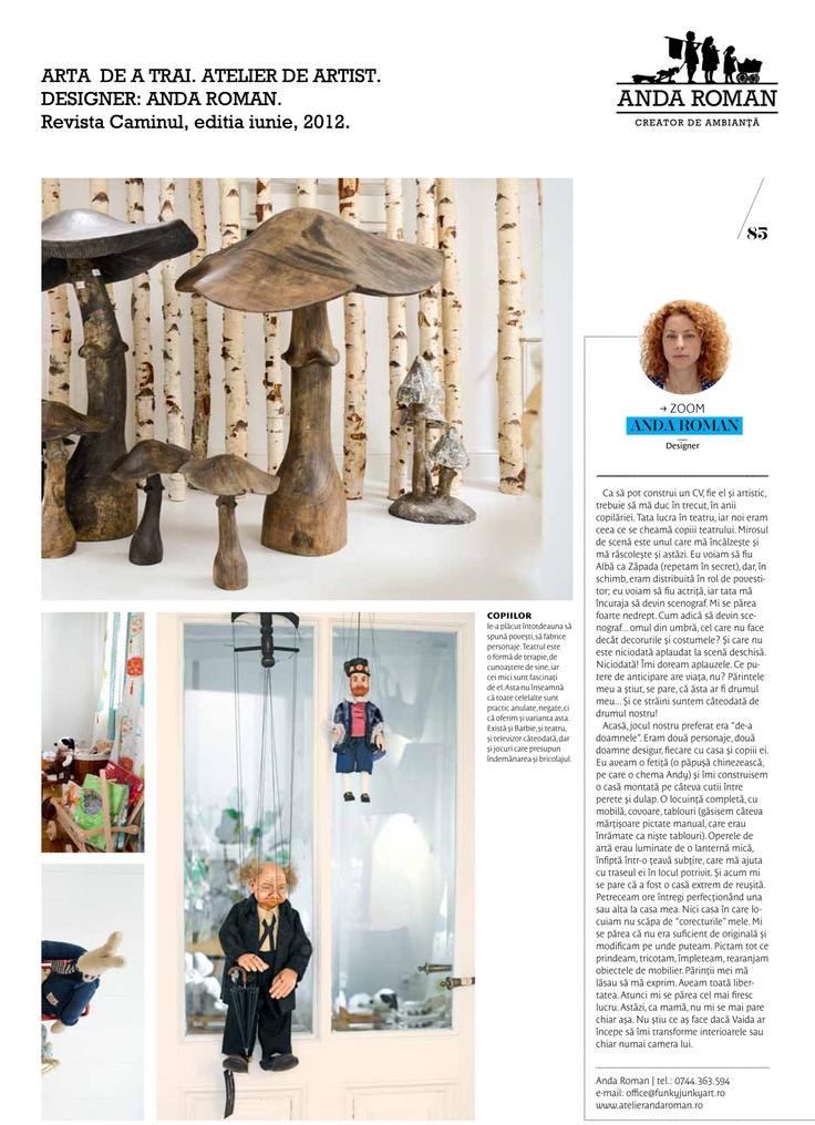 Anda Roman in Caminul Magazine, June issue 2012.