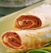 "Vegetarian ""Pepperoni"" Wrap Sandwiches Recipe"