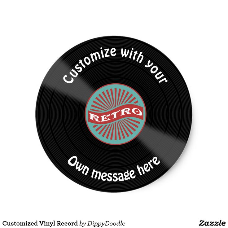 Customized vinyl record classic round sticker