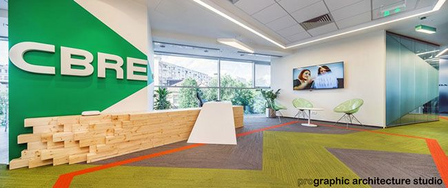 CBRE - Reception desk and waiting area