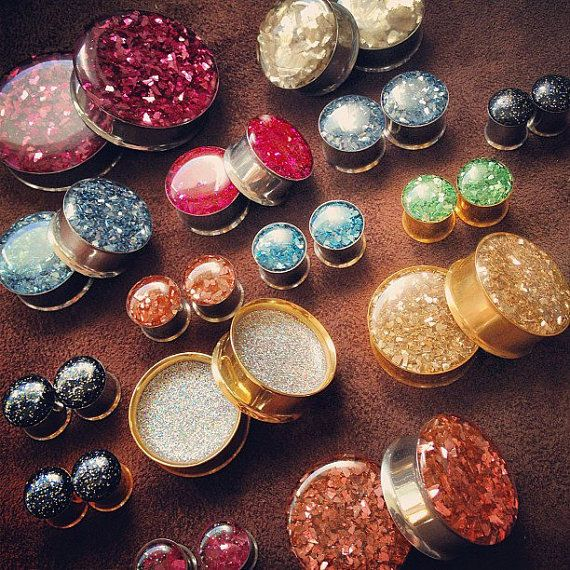 Vibrantly Colorful #Plugs - Double Sided Resin Plugs - Choose Your Colors - Double Flare on Etsy, $24.00