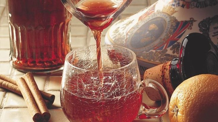 Steeped in Swedish tradition, this spicy fruit drink gets its punch from red wine, brandy and vodka.