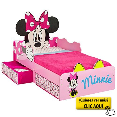 Minnie Mouse Cama infantil con cajones y colchón... #cama