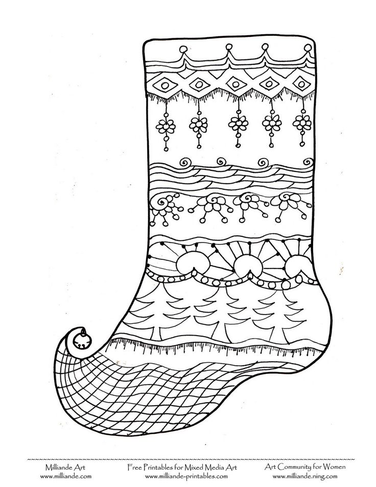 80 best images about christmas colouring pages on for Christmas socks coloring pages