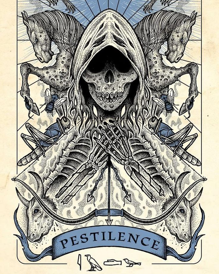 Consequences: Not expecting anybody to like this but it has to be said. This is a Tarot card of the third of the Four Horsemen of the Apocalypse. PESTILENCE - or disease. How is this linked to global warming? Rising temperatures present an ideal environment for microbes to multiply so that diseases like Malaria Cholera Measles and Scarlet fever will and are starting to come back. This coincides with infections responding less and less to antibiotics because humans have overused them…