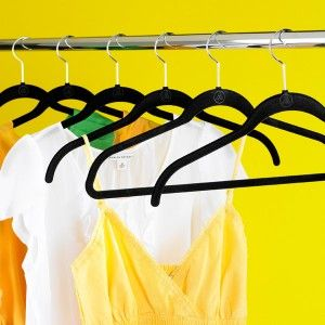 The huggable hangers which are used in our wardrobe.
