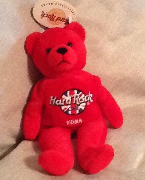 Hard Rock Cafe Kona Hawaii Red Beanie Collectible Bear Rita Beara 2000 HTF   | eBay