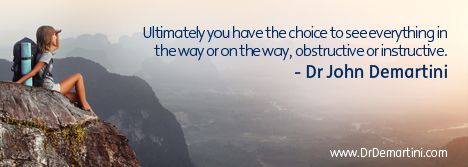 Dr John Demartini - Human Behavior Specialist, Educator, Business Consultant - www.DrDemartini.com