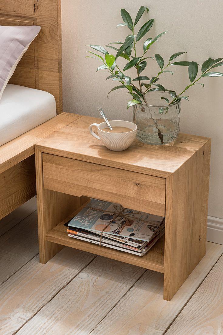 Unique Diesen Nachttisch erhalten Sie in wertvollen Holzarten Er ist komplett metallfrei verarbeitet und exklusiv nur bei allnatura erh ltlich