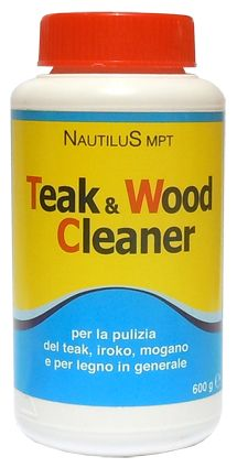 Teak & Wood Cleaner - detergente in polvere, che in poco tempo e con facilità ridona il colore e pulisce la venatura del legno. Teak & Wood Cleaner usato regolarmente dona un aspetto pulito ed impeccabile, migliorando la durata di tutti i legni non verniciati. Ideale anche per legni riportati a nuovo per schiarire le macchie di umidità.