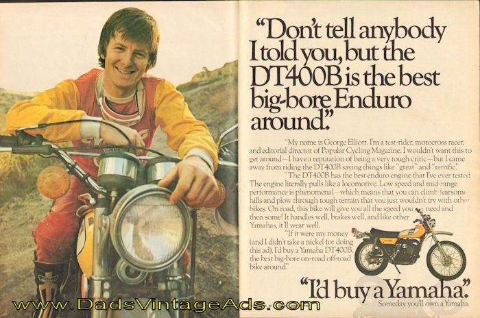 "1975 Yamaha DT400B Enduro – George Elliott says, ""I'd buy a Yamaha"""