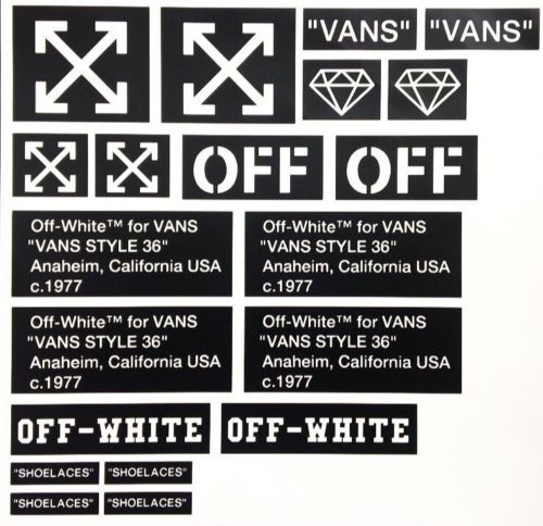 f6b3ca0c1d963 Painting Stencils 183100  Premium Off-White Vinyl Stencil Pack (Vans) -   BUY IT NOW ONLY   15 on  eBay  painting  stencils  premium  vinyl  stencil