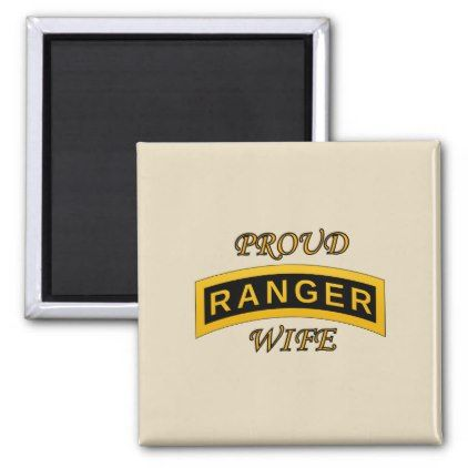 Army Ranger School Tab - Proud Wife - Magnet - create your own personalize