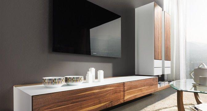 24 best architectuur details interieur images on pinterest team 7 linz and living room - Schwebende wohnwand ...