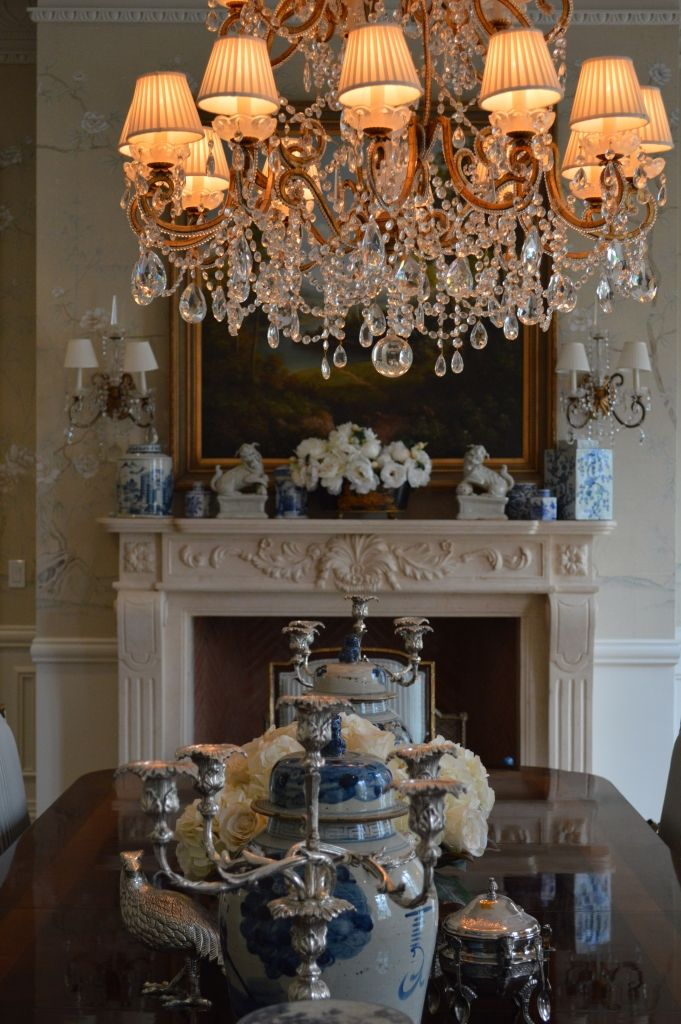 The Enchanted Home Grand HouseDining Room DrapesDining ChandeliersCrystal