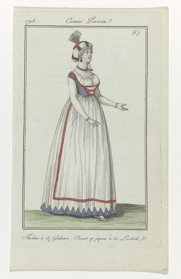 Journal des Dames et des Modes, Costume Parisien, 11 février 1798, (6) : Turban à la Gulnare..., anonymous, 1798