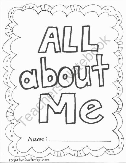 10 best teaching: all about me images on Pinterest
