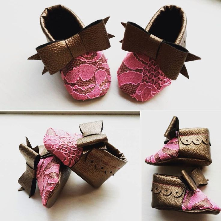 Babyshoes Leather and lace