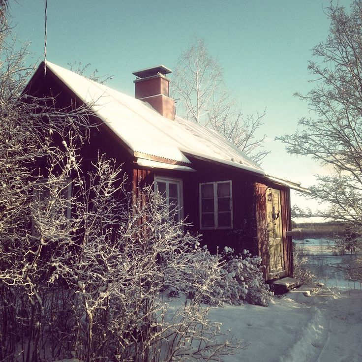 The cottage where my grandmother was born . Boxing Day in Finland.