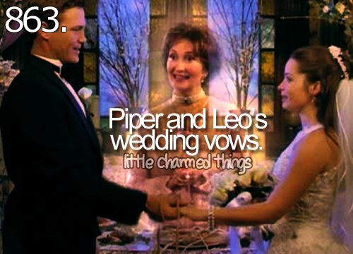Little Charmed Things Piper And Leos Wedding Vows Charmedtv