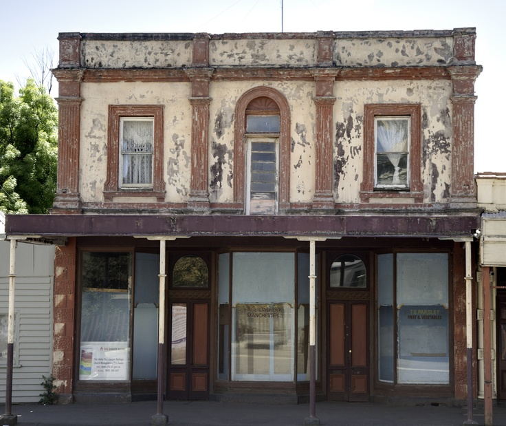 "Photographer: ""Photographed in Clunes, Victoria, Australa. Historic shops now empty, a left over from the Victorian Gold Rush of the 19th Century. What an amazing place."""
