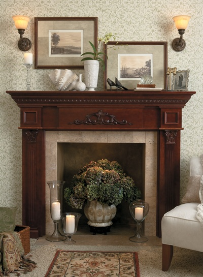 best 21 mantels and fireplace surrounds images on pinterest mantles fireplace surrounds and. Black Bedroom Furniture Sets. Home Design Ideas