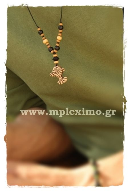 fish and beads necklace