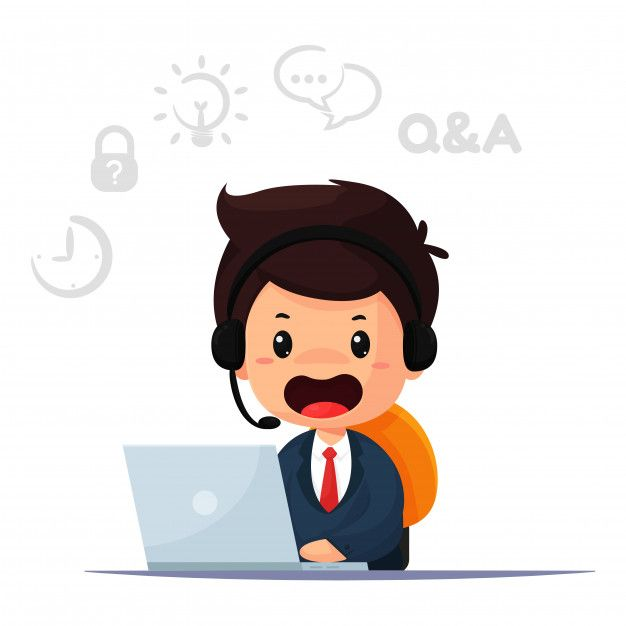Cartoon Employee And Operator Is Responsible For Contacting Customers And Providing Advice Virtual Call Center Call Center All Emoji