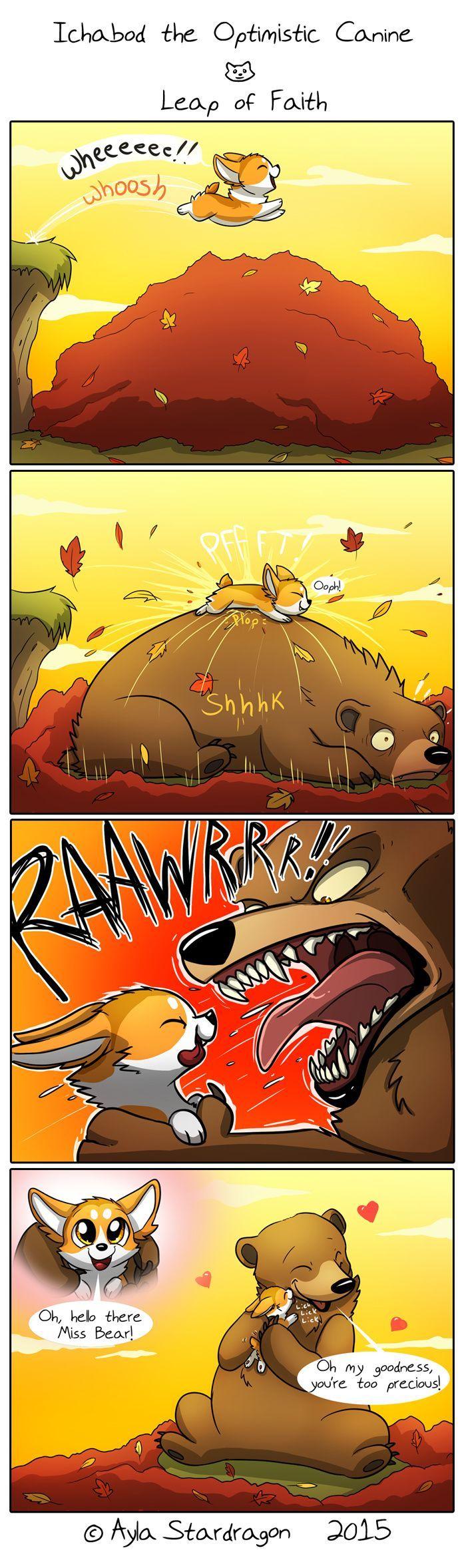 Ichabod the Optimistic Canine :: Leap of Faith | Tapastic Comics - image 1