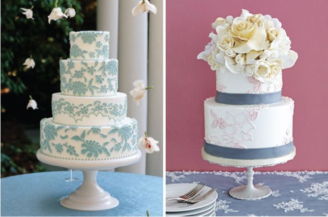 Lace cakes.: Lace Cakes, Wedding Trends, Lacey Cakes, Wedding Dreams, Blue Lace, Beau Gateau, Wedding Planners, Beautiful Lace, Lace Wedding Cakes Blue Pink