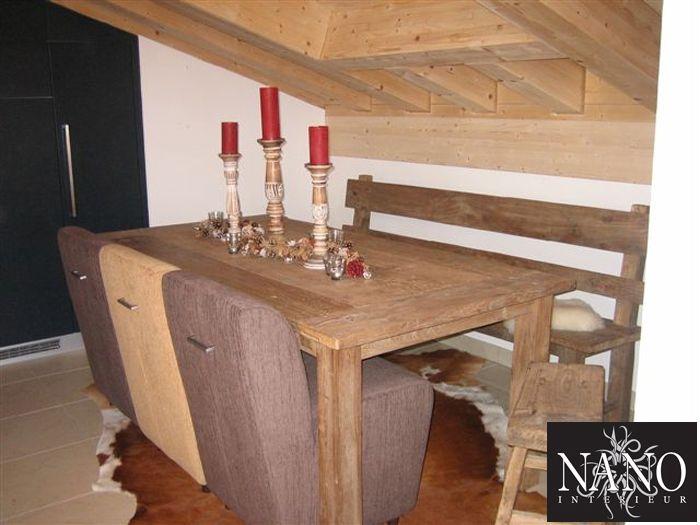 Meer dan 1000 idee n over rode accenten op pinterest rode slaapkamer inrichting woonkamer - Interieur houten chalet ...