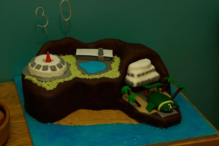 Tracy island birthday cake