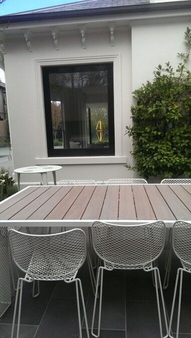 Kelmscott outdoor furniture coated by colour effect painting