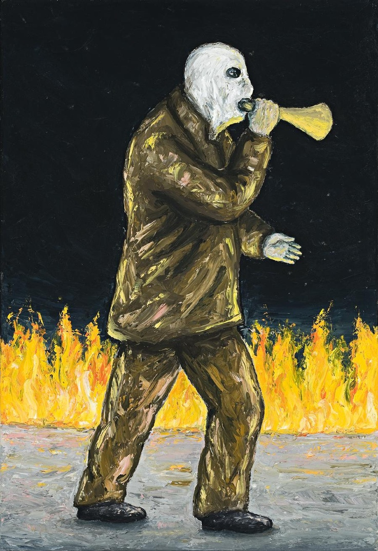 Man and Fire, Peter Booth - 1998