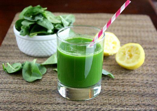 1 large organic cucumber 6 stalks organic celery 3 cups organic baby spinach 1 organic lemon (freshly squeezed)