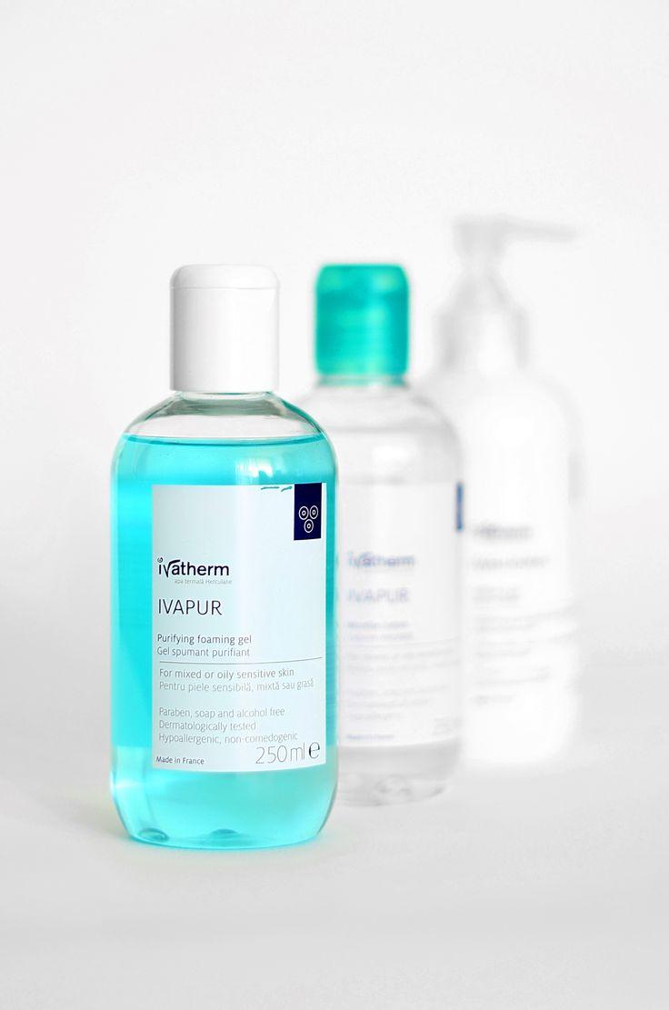 #Ivatherm #oilyskin #acne #cleansinggel