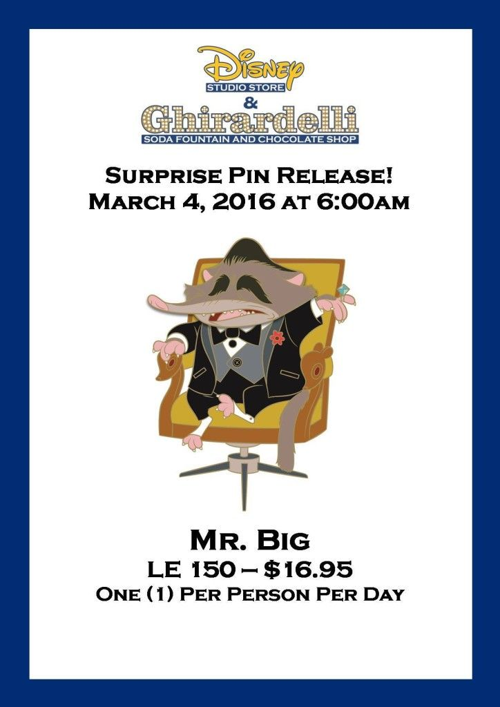 Zootopia Mr Pig Surprise Pin Released