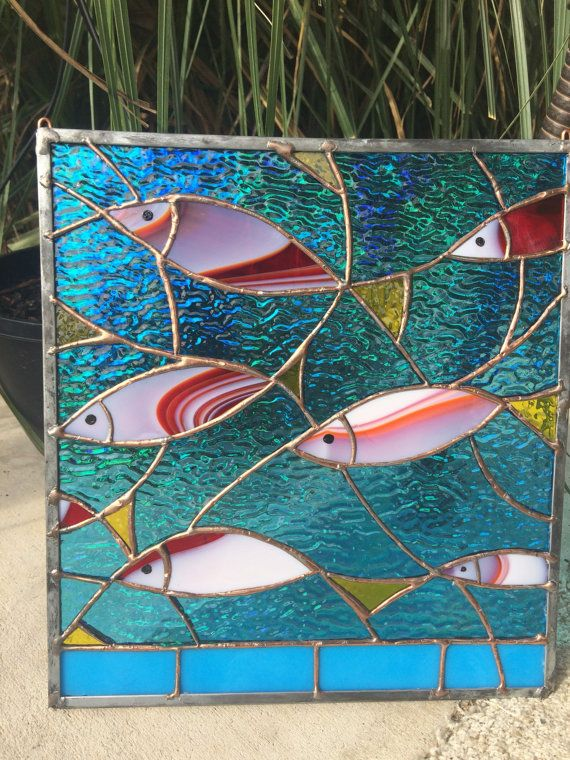 Stained Glass Tropical Fish Sea Suncatcher Nautical от HelioGlass
