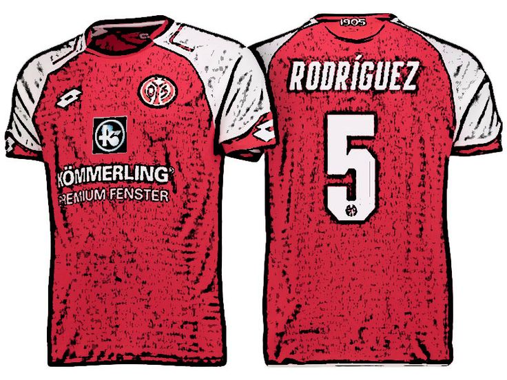 FSV Mainz 05 Kit Jersey For Cheap jose rodriguez martinez 17-18 Home Shirt
