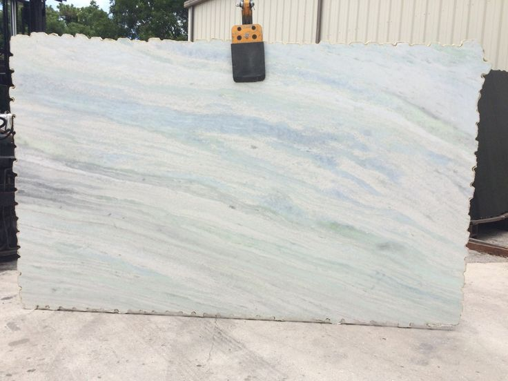 Blue Crystal Quartzite Includes An Off White Background