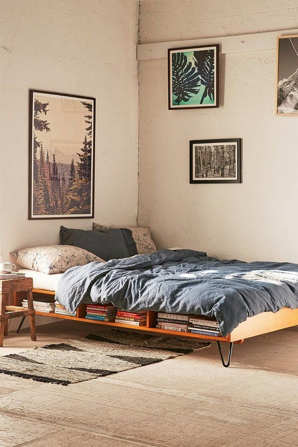 Border Storage Bed - make the most of under bed storage with this cute idea!
