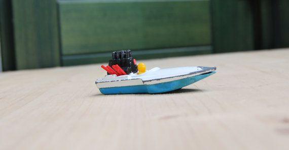 Collector's model speedboat seafire matchbox by LuanaEgleVintage, $10.00