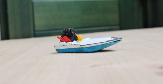Collector's model speedboat seafire matchbox by LuanaEgleVintage, $10.00